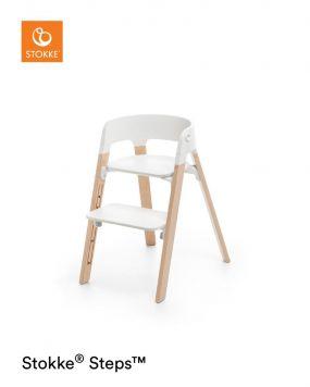 Stokke® Steps™️ Kinderstoel White Natural