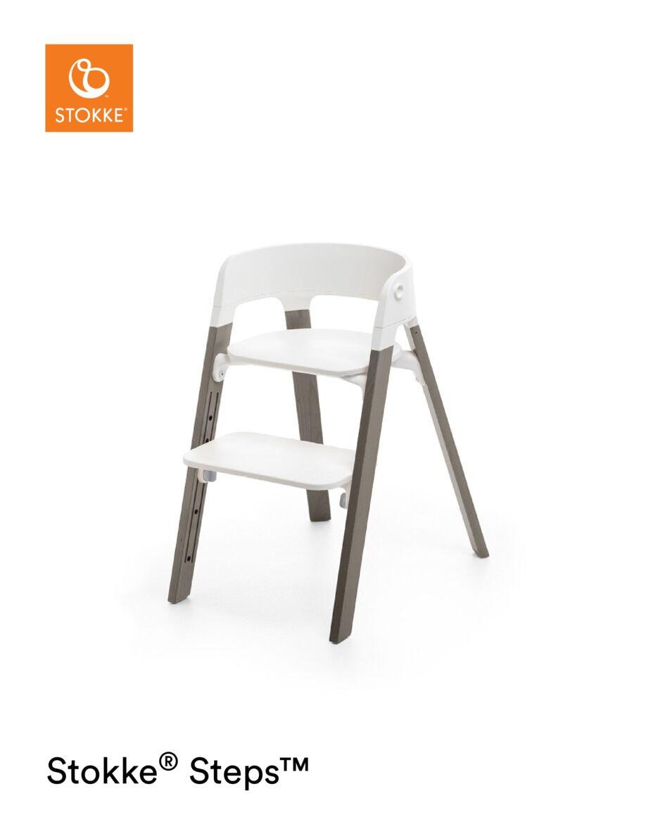 Stokke® Steps™️ Kinderstoel White Hazy Grey