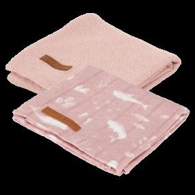 Little Dutch Set van 2 Swaddledoeken Ocean Pink & Pure Pink