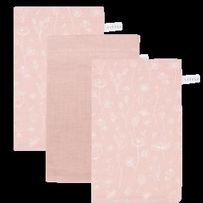 Little Dutch Washandjes Wild Flowers Pink