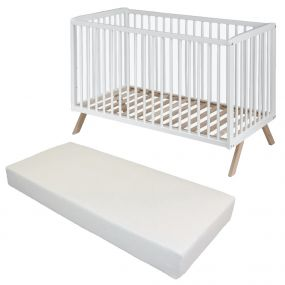 Cabino Baby Bed Met Matras Teresa Wit 60 x 120 cm