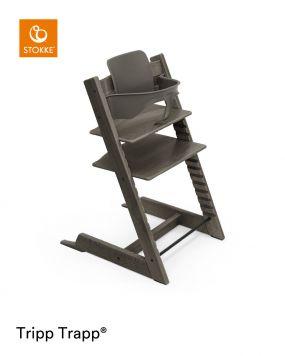 Stokke® Kinderstoel Tripp Trapp® Hazy Grey + Baby Set™ Hazy Grey + Tray™