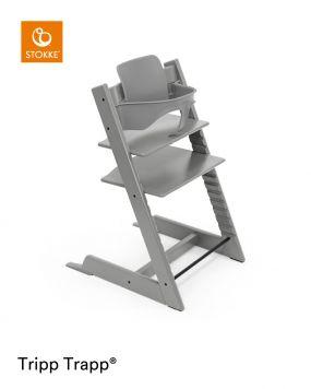 Stokke® Kinderstoel Tripp Trapp® Storm Grey + Baby Set™ Storm Grey + Tray™