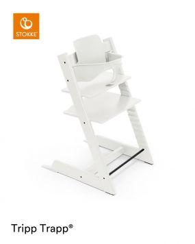 Stokke® Kinderstoel Tripp Trapp® White+ Baby Set™ White + Tray™