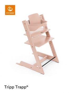 Stokke® Kinderstoel Tripp Trapp® Serene Pink + Baby Set™ Serene Pink + Tray™