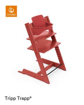 Stokke® Kinderstoel Tripp Trapp® Warm Red + Baby Set™ Warm Red + Tray™