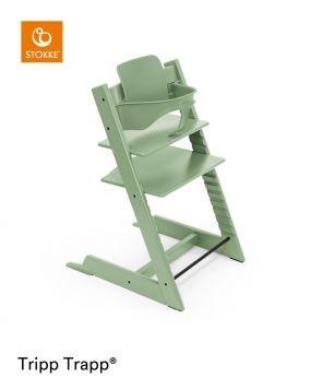 Stokke® Kinderstoel Tripp Trapp® Moss Green + Baby Set™ Moss Green + Tray™
