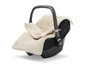 Jollein Voetenzak Groep 0+ Autostoel 3/5 Punts Basic Knit Nougat