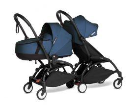 Babyzen Duo Kinderwagen YOYO Connect Black/Navy Blue