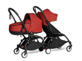 Babyzen Duo Kinderwagen YOYO Connect Black/Red