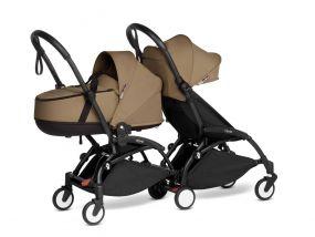 Babyzen Duo Kinderwagen YOYO Connect Black/Toffee