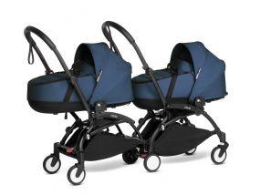Babyzen Duo Kinderwagen Tweeling YOYO Connect Black/Navy Blue