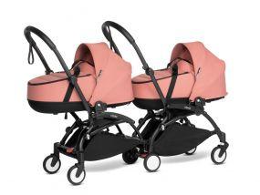 Babyzen Duo Kinderwagen Tweeling YOYO Connect Black/Ginger