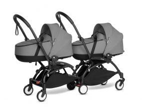 Babyzen Duo Kinderwagen Tweeling YOYO Connect Black/Grey