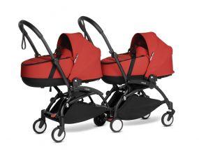 Babyzen Duo Kinderwagen Tweeling YOYO Connect Black/Red