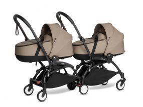 Babyzen Duo Kinderwagen Tweeling YOYO Connect Black/Taupe