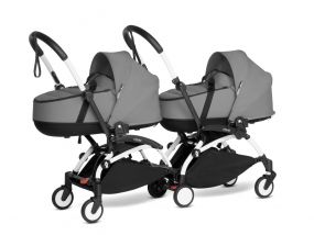 Babyzen Duo Kinderwagen Tweeling YOYO Connect White/Grey