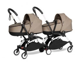 Babyzen Duo Kinderwagen Tweeling YOYO Connect White/Taupe