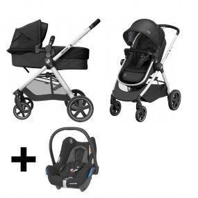 Maxi Cosi Kinderwagen 2 in 1 Zelia 2.0 Essential Black + Gratis Autostoel Cabriofix
