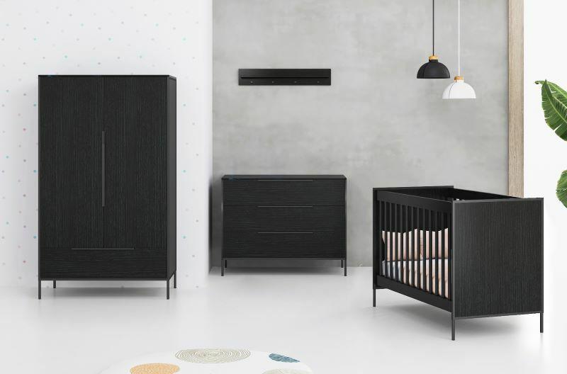 Cabino Babykamer Zwart Marble